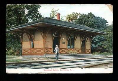 1909 Conimicut Station  Rhode Island  Photo Quality  Litho Chrome