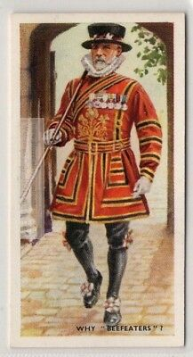 The Beefeaters Yeomen Warders of the Tower of London 75+ Y/O Trade Ad Card