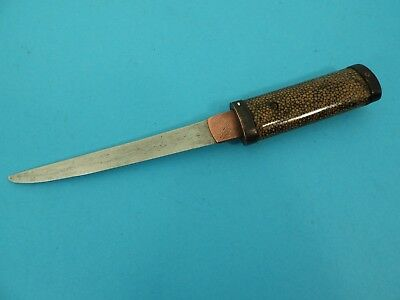 Antique Japanese Tanto Dagger, With Rayskin Covered Handle