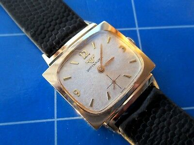 BEAUTIFUL LONGINES-WITTNAUER GENTS VINT.WATCH.FAB 'TV' CASE/AMAZING DIAL.1960's.