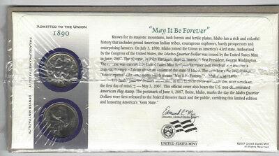 2007 US Mint First Day Cover Idaho State Quarters P&D Set Sealed