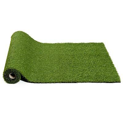 Outsunny 25mm Pile Height Artificial Grass Synthetic Turf 3m x 1m - Green A