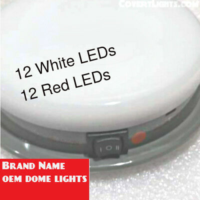 NEW OEM DOME LIGHT RED White LED Dome Light Police Package Plug Connector