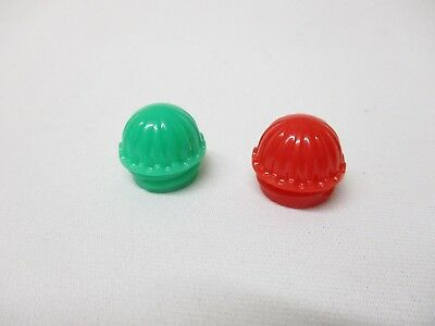 Lionel Trains Opaque Red & Green Ribbed Screw In Transformer Accessory Lens Set