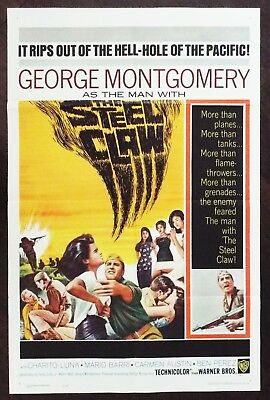 The Steel Claw 1961 George Montgomery Original US One Sheet Poster