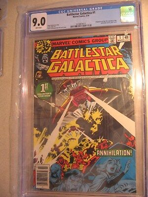 Battlestar Galactica Marvel 03/1979  1st Print CGC 9.0 First Issue   item#cm44