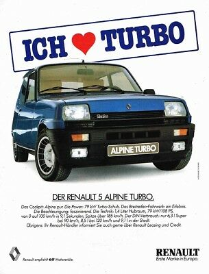 Renault 5 Alpine Turbo (German, 1pg.) Advertisement (AAE.103)