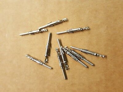 10 x Male Crimp Pins for Bulgin Buccaneer Standard Series, 9 pin