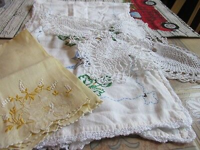 Nice Vintage Cutter Lot Of Of Mix Linens 3  Pieces Nl2
