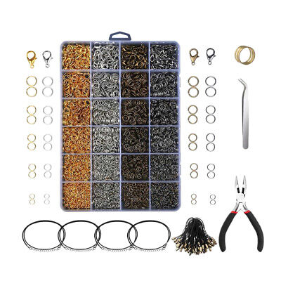 24 Grids Jewelry Making Set Tool Finding Starter Plier Necklace Accessories