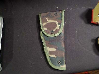 Woodland Camo Nylon Holster With Alice Clips