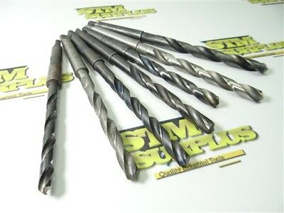 """7Pc Hss 1Mt Taper Shank Drills 5/16"""" To 15/32"""" Btfld Malcus Morse National Ampco"""