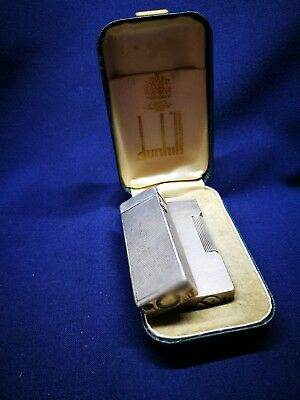 Vintage 2 dunhill 1 solid silver Cigarette Lighter with