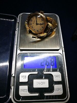 Vintage Ladies 9ct Gold case Rolex Swiss Watch, with solid 15ct gold bracelet