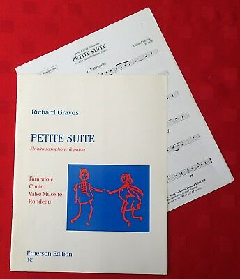 Petite Suite by Richard Graves. For Eb Alto Saxophone & Piano. Sheet Music Book