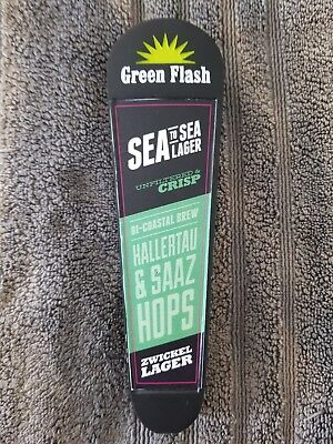 Green Flash Tap Handle Craft Beer Collectors  Item Sea to Sea Lager