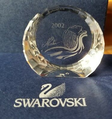 "Swarovski 2002 Magic of Dance Crystal Paperweight ""Isidora"" Title Label"