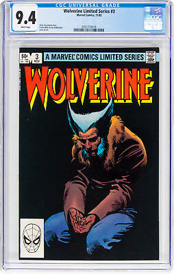 Wolverine Limited Series #3, CGC NM 9.4, White Pages, Chris Claremont Story