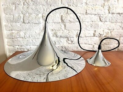 "'70s°°°°°°°°°°°°°FOG & MORUP°°°°°°PENDANT LAMP ""SEMI""°°°°°°CHROME°°°°°°°°°°°'70s"