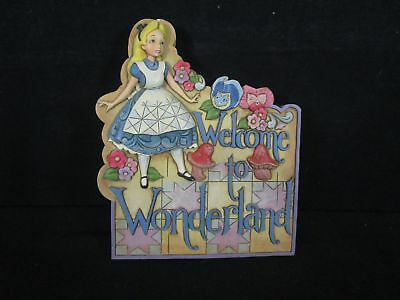 Alice in Wonderland Garden Plaque with Wall Mount Clip No Ground Stick (140)