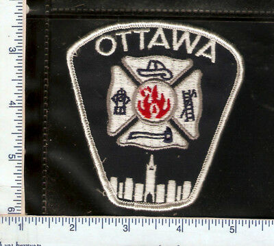 for sale, 1 vintage Ottawa Fire Dept white patch(ONT)