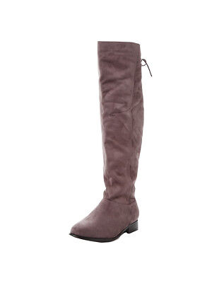 V by Very Chyna Wide Fit Over The Knee Boots In Grey Size UK 6