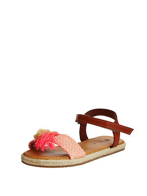 V by Very Lola Strap Junior Sandals In Tan Size UK 4