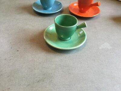 vintage fiesta green after dinner/demi cup and saucer
