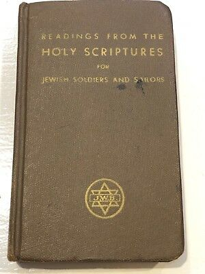 Antique Jewish U.S Army Soldiers And Sailors Holy Scriptures Prayer Book Judaica