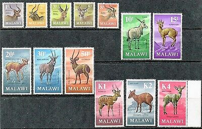 Malawi 1971.antelope Definitive Set  Mnh  As Is See Scan.