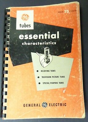 GE Tubes Essential Characteristics - Television - Special Purpose - Nice Copy