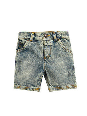 Mini V by Very Boys Rip & Repair Denim Shorts in Mid Wash Size 5-6 Years