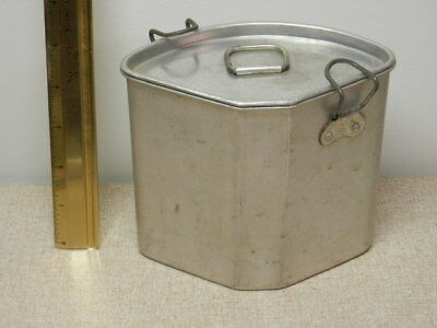 Vintage Aluminum kitchen food scrap collector container Unbranded