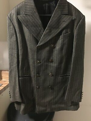 BACHRACH Men's Brown Striped Tweed Partially Lined Sport Coat Made in Italy