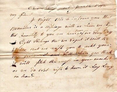 1793, Newburyport, MA., Moses Brown, merchant, letters and documents