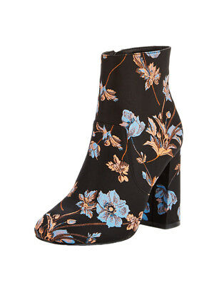 V by Very Emma Floral Tapestry Ankle Boot Blue Floral in Blue Multi Size UK 4