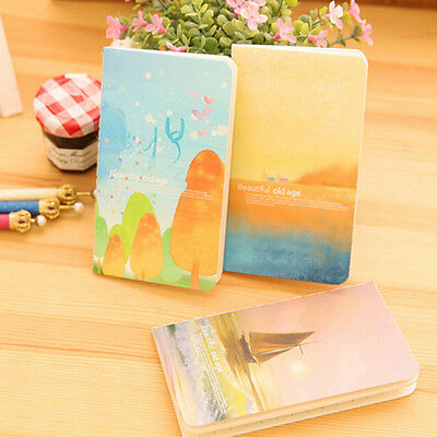 AU_1x Journal Diary Notebook With Lined Paper Vintage Notepad Book for Kids A