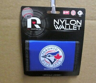 Brand New MLB  Toronto Blue Jays  Printed Nylon Trifold Wallet With Velco