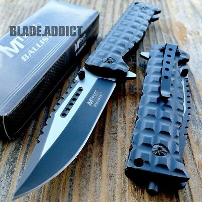 TAC FORCE Spring Assisted Open SAWBACK BOWIE Tactical Rescue Pocket Knife-H