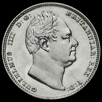 1834 William IV Milled Silver Sixpence, G/EF