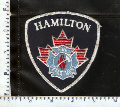 for sale, 1 vintage Hamilton Fire Deptment patch(white) Ontario.