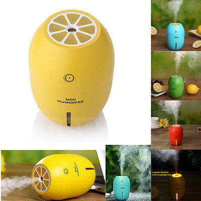 180ml USB Lemon LED Aroma Humidifier Air Aromatherapy Essential Oil Diffuser New