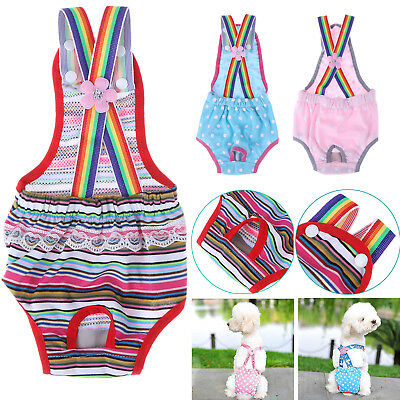 Cotton Female Dog Puppy Pet Diaper Pants Physiological Sanitary Panty Underwear