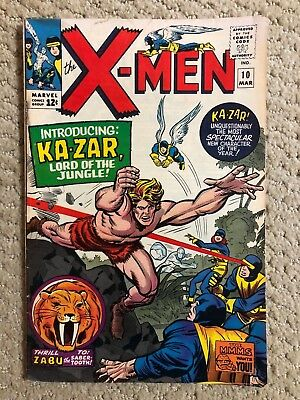 The X-Men #10 First Silver Age Appearance Of Ka-Zar Marvel March 1965