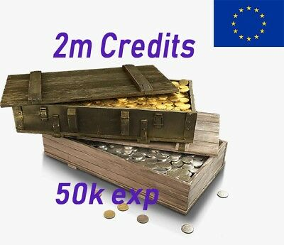 World of Tanks 2MIL Credits With 50k XP NO USE BOOSTS 24hhh