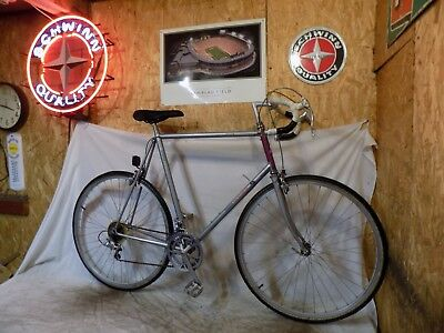 1980s RALEIGH TECHNIUM 12-SPEED TALL ROAD RACING BICYCLE VINTAGE RECORD SPORTS!