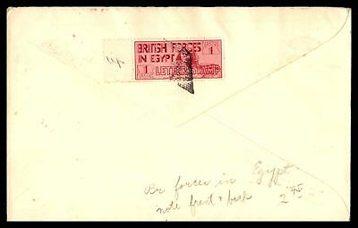 Mpo Cairo Egypt February 24 1936 Postage Paid Pink Cancel On Cover To England