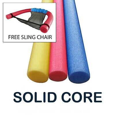 3 Pack Solid Pool Noodle 60 Inch x 2.75 Inch Extra Long  Assorted Colors