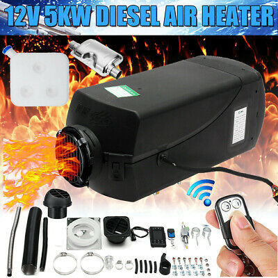 12V 5KW Diesel Air Heater LCD Switch Remote 10L Tank F/ Trucks Car Boat Trailers
