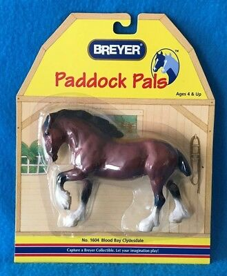 Breyer Bay Clydesdale Paddock Pal Plastic Horse